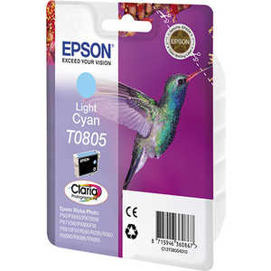 Картридж Epson T0805 Light Cyan (C13T08054011) картридж epson t009402 для epson st photo 900 1270 1290 color 2 pack