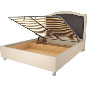 Кровать OrthoSleep Калифорния бисквит-шоколад механизм и ящик 140х200