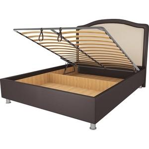 Кровать OrthoSleep Калифорния шоколад-бисквит механизм и ящик 140х200