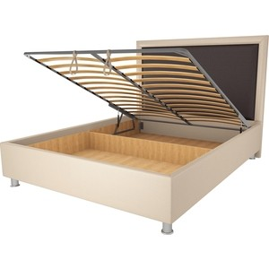 Кровать OrthoSleep Нью-Йорк бисквит-шоколад механизм и ящик 140х200