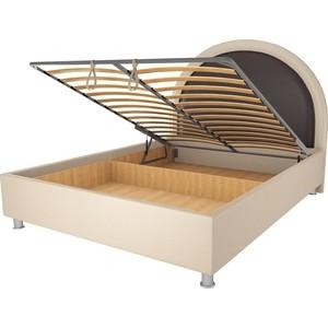 Кровать OrthoSleep Аляска бисквит-шоколад механизм и ящик 140х200