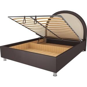 Кровать OrthoSleep Аляска шоколад-бисквит механизм и ящик 140х200