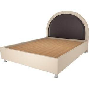 Кровать OrthoSleep Аляска бисквит-шоколад жесткое основание 180х200 кровать orthosleep виктория шоколад бисквит жесткое основание 180х200
