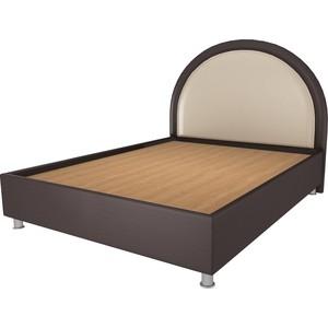 где купить Кровать OrthoSleep Аляска шоколад-бисквит жесткое основание 160х200 дешево