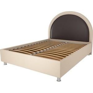 Кровать OrthoSleep Аляска бисквит-шоколад ортопед.основание 140х200 покрывало элегия 140х200 ванесса шоколад