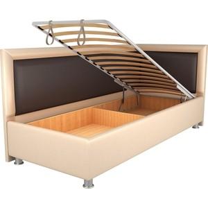 Кровать OrthoSleep Барби бисквит-шоколад механизм и ящик 120х200 правый угол