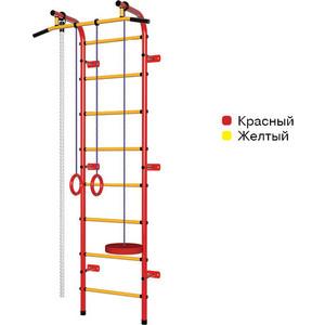 Детский спортивный комплекс Пионер С1НМ красно- жёлтый спортивный комплекс пионер с1нм сине желтый