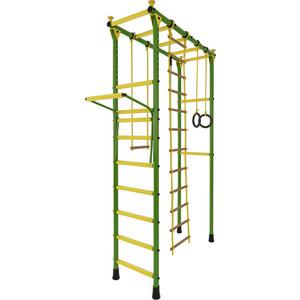 Детский спортивный комплекс Лидер П-02 зелёно- жёлтый детский спортивный комплекс лидер п