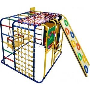 Детский спортивный комплекс Формула здоровья Кубик У Плюс синий- радуга детский спортивный комплекс формула здоровья аистенок 2а плюс красный радуга
