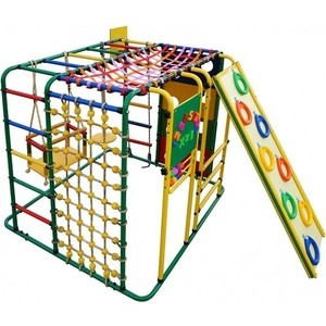 Детский спортивный комплекс Формула здоровья Кубик У Плюс зелёный- радуга