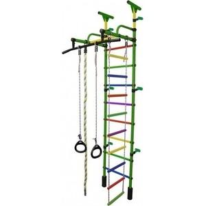 Детский спортивный комплекс Формула здоровья Жирафик-1А Плюс Универсальный зелёный- радуга