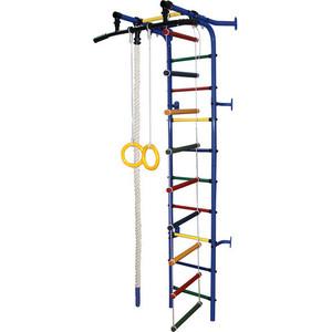 Детский спортивный комплекс Формула здоровья Жирафик-1А Плюс синий- радуга спортивный комплекс формула здоровья мечта 1в плюс синий радуга
