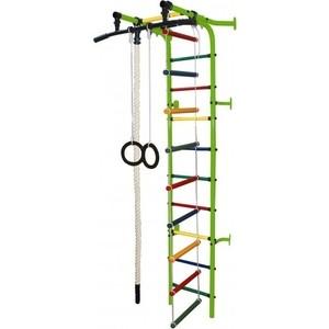 Детский спортивный комплекс Формула здоровья Жирафик-1А Плюс салатовый- радуга