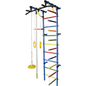 Детский спортивный комплекс Формула здоровья Гамма-1К Плюс синий- радуга детский спортивный комплекс формула здоровья аистенок 2а плюс красный радуга
