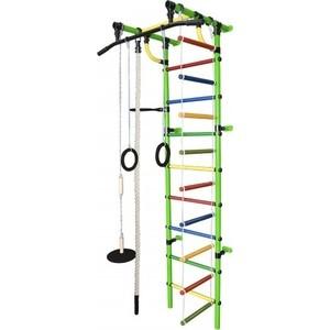Детский спортивный комплекс Формула здоровья Гамма-1К Плюс салатовый- радуга детский спортивный комплекс формула здоровья гамма 3к плюс фиолетовый радуга
