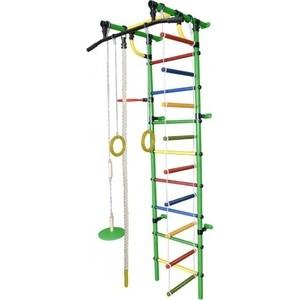 Детский спортивный комплекс Формула здоровья Гамма-1К Плюс зелёный- радуга детский спортивный комплекс формула здоровья гамма 3к плюс фиолетовый радуга