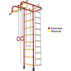 Детский спортивный комплекс Пионер А (2038) красно- жёлтый спортивный комплекс пионер с1нм красно желтый