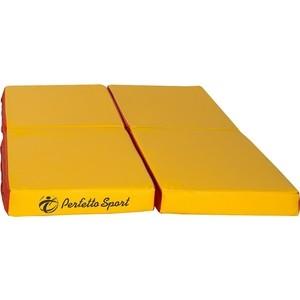 Мат PERFETTO SPORT № 11 (100 х 100 х 10) складной (4 сложения) красно- жёлтый мат perfetto sport 5 100 х 200 х 10 складной 3 сложения красно жёлтый