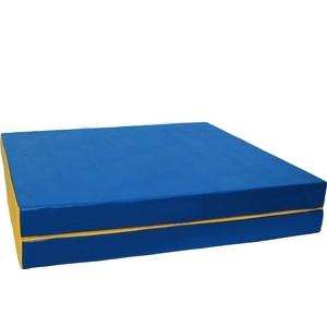 где купить Мат КМС № 10 (100 х 150 х 10) складной (1 сложение) сине- жёлтый 2627 по лучшей цене