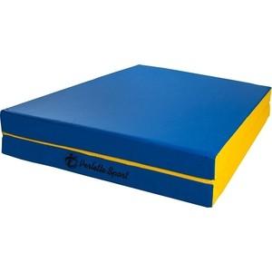 Мат PERFETTO SPORT № 10 (100 х 150 х 10) складной (1 сложение) сине- жёлтый мат perfetto sport 5 100 х 200 х 10 складной 3 сложения красно жёлтый