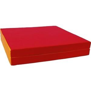 Мат КМС № 10 (100 х 150 х 10) складной (1 сложение) красно- жёлтый 2626