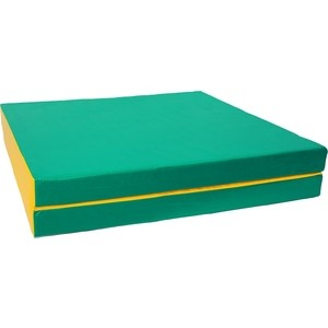 Мат КМС № 10 (100 х 150 х 10) складной (1 сложение) зелёно- жёлтый 2625