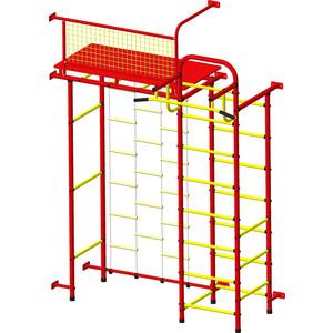 Детский спортивный комплекс Пионер 10ЛМ красно- жёлтый детский спортивный комплекс пионер 8м красно жёлтый