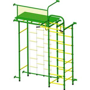Детский спортивный комплекс Пионер 10Л зелёно- жёлтый детский спортивный комплекс пионер с3лм зелёно жёлтый