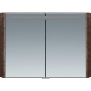 все цены на Зеркальный шкаф Am.Pm Sensation 100 см, с подсветкой, табачный дуб, текстурированный (M30MCX1001TF) онлайн