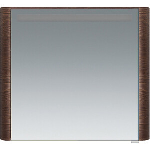 Фотография товара зеркальный шкаф Am.Pm Sensation левый 80 см, с подсветкой, табачный дуб, текстурированный (M30MCL0801TF) (805854)