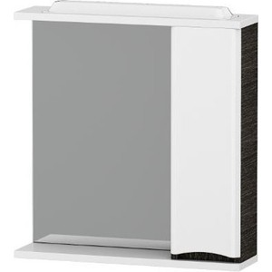все цены на Зеркальный шкаф Am.Pm Like 80 см, с подсветкой, правый венге, текстурированный (M80MPR0801VF) онлайн