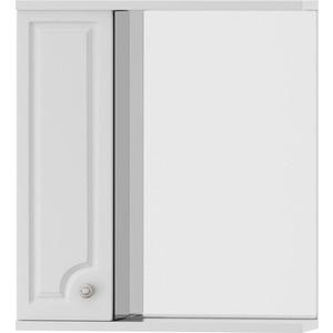 Зеркальный шкаф Dorff Tradition левый 60 см, с подсветкой, белый, (M95MPL0601WG) шкаф пенал dorff tradition 36 см белый глянец