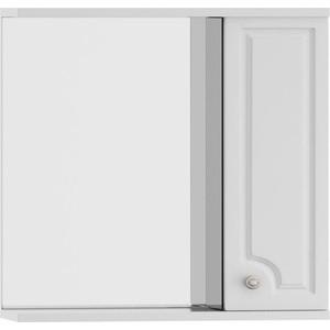 Зеркальный шкаф Dorff Tradition правый 75 см, с подсветкой, белый (M95MPR0751WG) шкаф пенал dorff tradition 36 см белый глянец