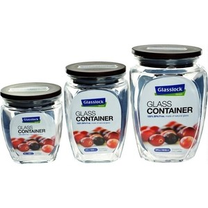 Набор контейнеров для сыпучих продуктов 3 штуки Glasslock (HG-638) набор контейнеров 3 штуки glasslock gl 544