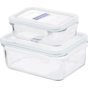 Набор прямоугольных контейнеров для еды 2штуки Glasslock (GL-1045) цена и фото