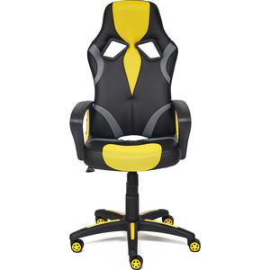 Кресло TetChair RUNNER кож/зам/ткань, черный/жёлтый, 36-6/tw27/tw-12 кресло tetchair runner кож зам ткань черный красный 36 6 tw 08 tw 12