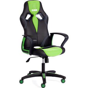 Кресло TetChair RUNNER кож/зам/ткань черный/зеленый 36-6/26/12 кресло tetchair runner кож зам ткань черный красный 36 6 tw 08 tw 12