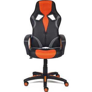 Кресло TetChair RUNNER кож/зам/ткань, черный/оранжевый, 36-6/tw07/tw-12 кресло tetchair ostin ткань серый бронзовый мираж грей tw 21