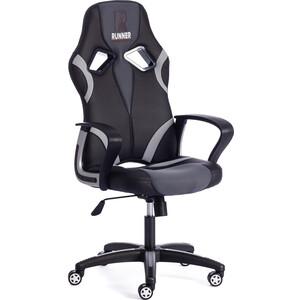 Кресло TetChair RUNNER кож/зам/ткань, черный/серый, 36-6/12/14 кресло tetchair runner кож зам ткань черный красный 36 6 tw 08 tw 12