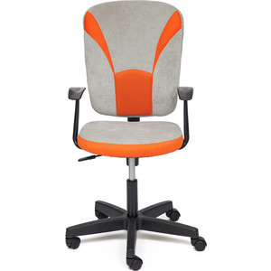 Кресло TetChair OSTIN ткань, серый/оранжевый, Мираж грей TW-07 недорго, оригинальная цена