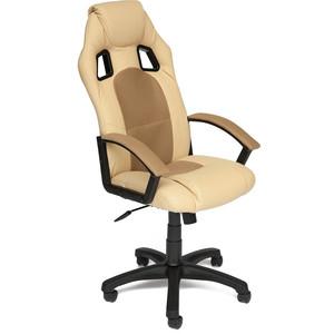 Кресло TetChair DRIVER кож/зам/ткань, бежевый/бронзозый, 36-34/21 кресло офисное tetchair twister кож зам черный бежевый 36 6 36 34