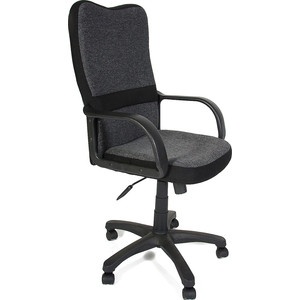 Кресло TetChair СН757 ткань, серый/чёрный, 207/2603 моноблок 23 lenovo ideaсentre 300 23isu 1920 x 1080 intel core i5 6200u 4gb 1tb intel hd graphics windows 10 professional черный f0by00gprk