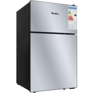 Холодильник Tesler RCT-100 Mirror двухкамерный холодильник tesler rct 100 black