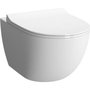Унитаз подвесной Vitra Sento безободковый укороченный 49,5 см, без сидения (7747B003-0075) 68 7747 10