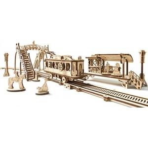 Конструктор 3D-пазл Ugears Трамвайная линия (70020) ugears конструктор 3d пазл сферокуб