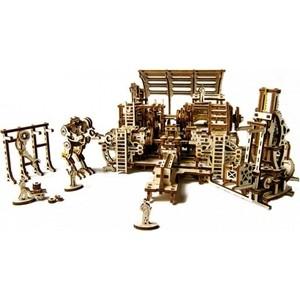 Конструктор 3D-пазл Ugears Фабрика роботов (70039) ugears конструктор 3d пазл сферокуб