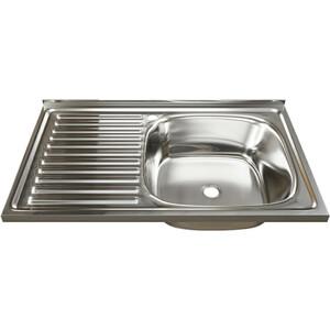 Кухонная мойка Mixline 50х80 0,4 правая, выпуск 1 1/2 (4630030631729)