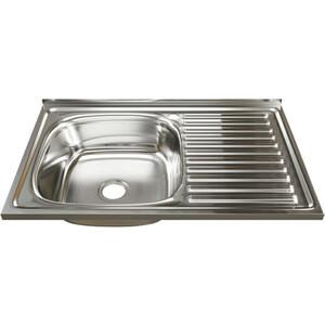 Кухонная мойка Mixline 50х80 0,6 левая, выпуск 3 1/2 (4630030631750)