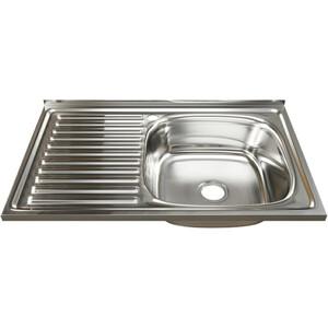 Кухонная мойка Mixline 50х80 0,6 правая, выпуск 3 1/2 (4630030631781)