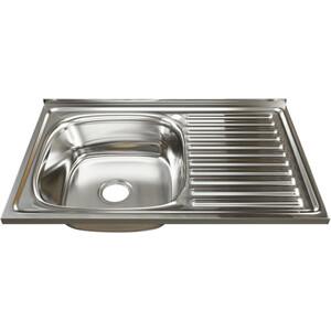 Кухонная мойка Mixline 50х80 0,8 левая, выпуск 3 1/2 (4630030631811)
